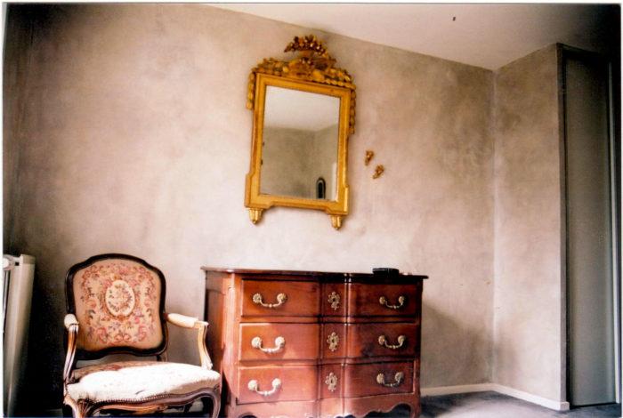 Rénovation d'une chambre en enduit de plâtre ciré