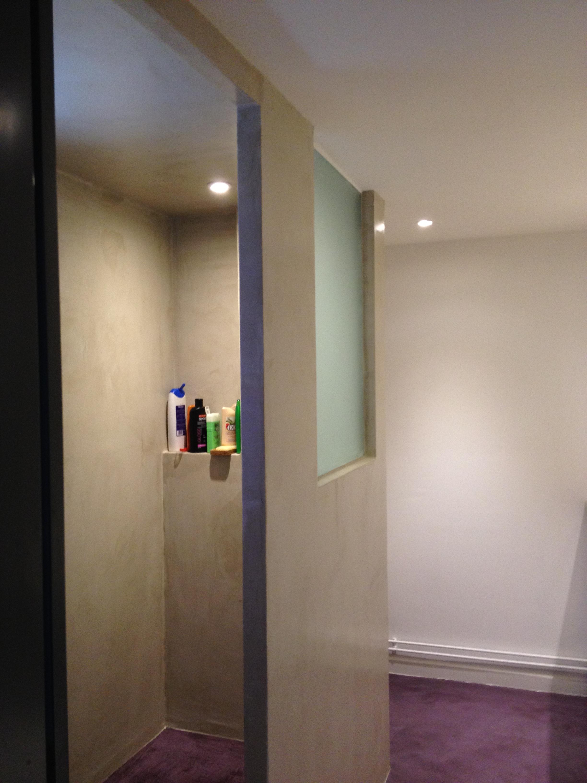Salle de bain et béton ciré