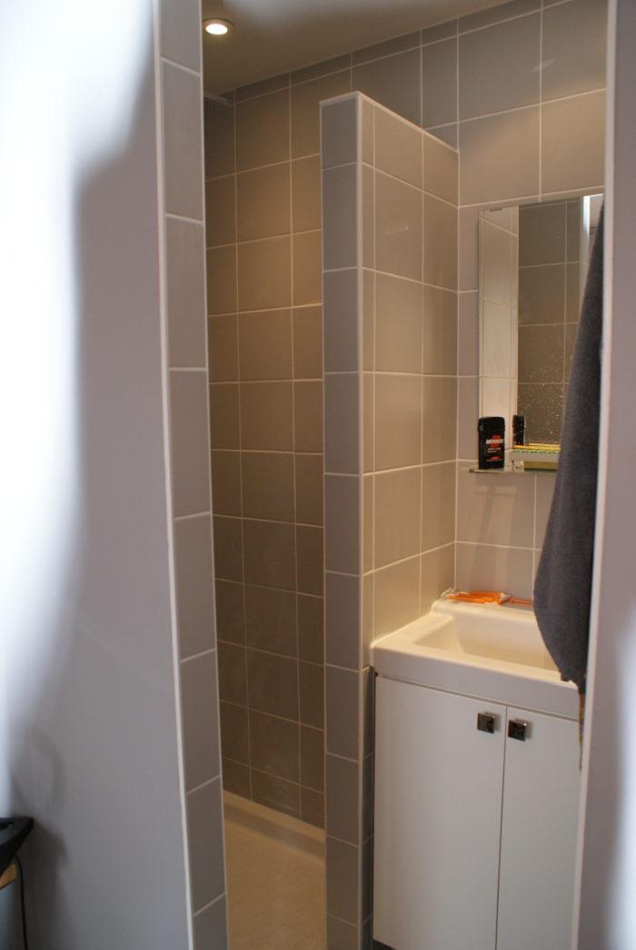 Création de salle d'eau, vue intérieure